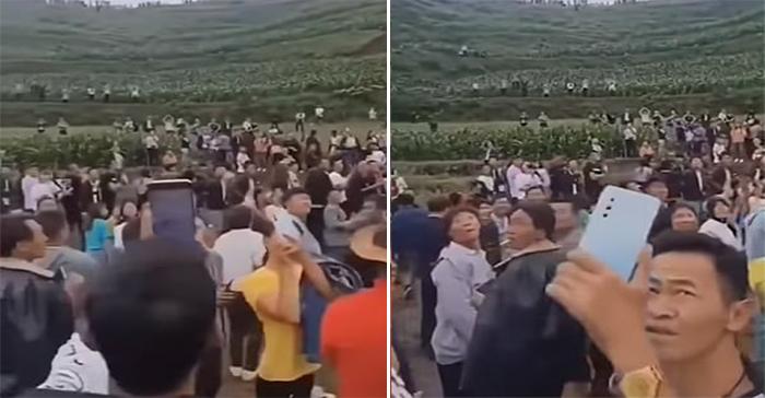 Gần đây, tiếng kêu lạ phát ra từ thung lũng gần thôn Kiên Cường, thị trấn Tú Thủy, Quý Châu khiến không ít người phải đến tận nơi chứng kiến.