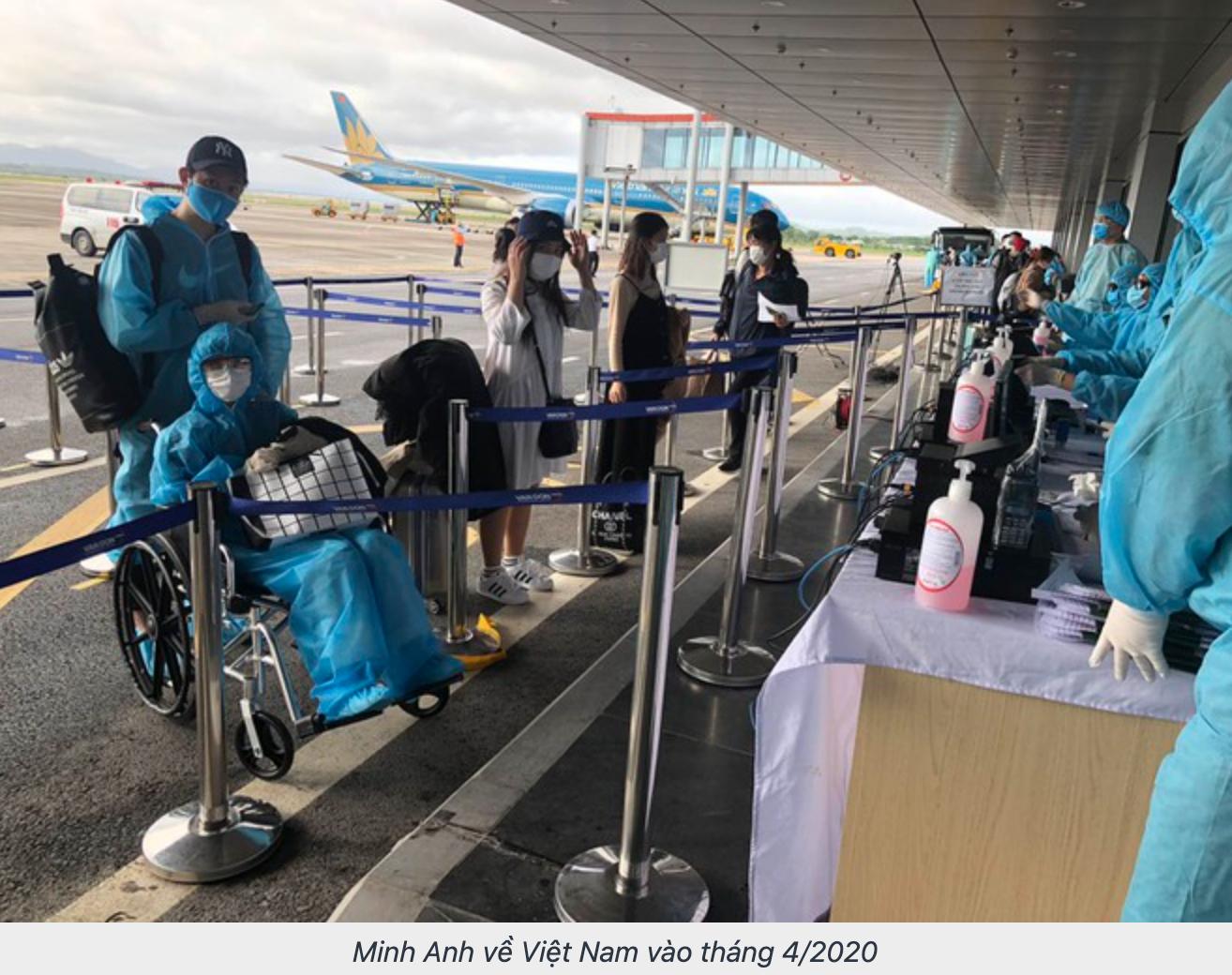Minh Anh về Việt Nam vào tháng 4/2020
