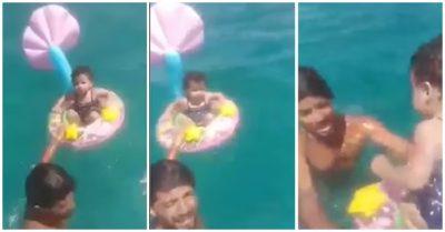Video: Bố mẹ lơ đãng, bé 1 tuổi bị gió cuốn trôi gần 1,6km ra biển